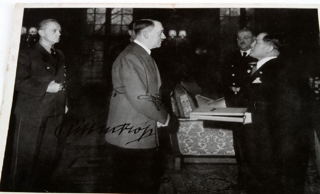 WWII 1941 HITLER & VON RIBBENTROP SIGNED PHOTO - 2