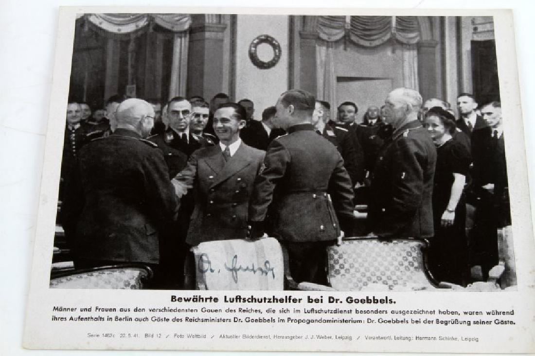 WWII GERMAN 1941 JOSEPH GOEBBELS SIGNED PHOTO - 2