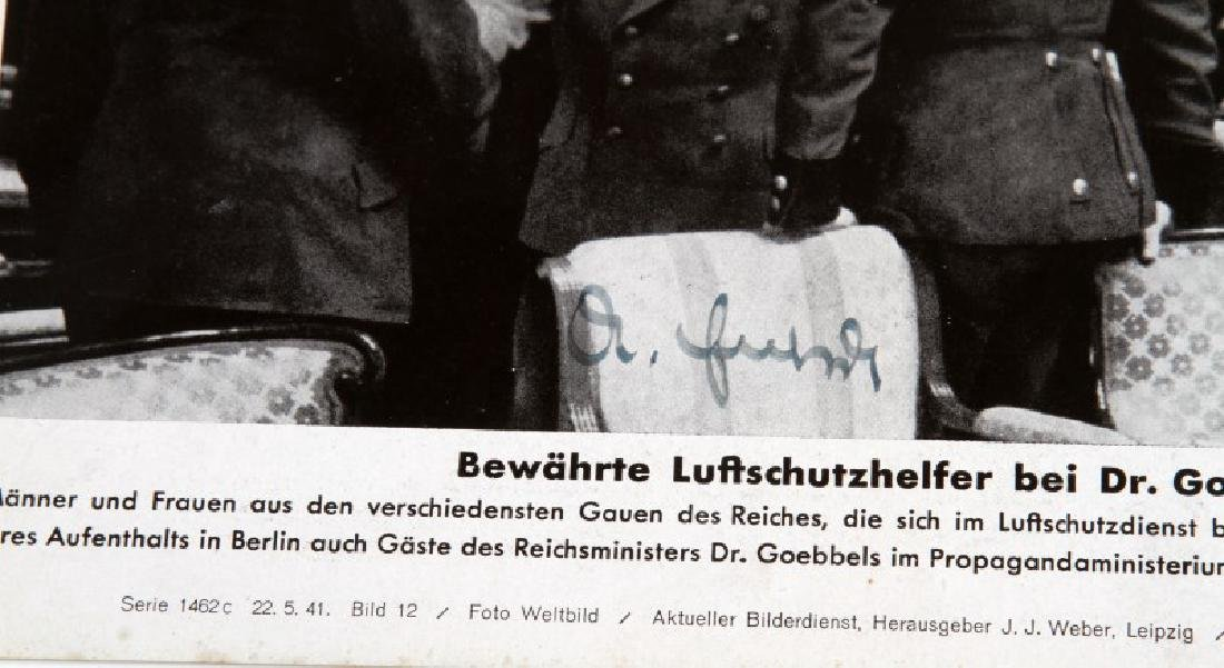 WWII GERMAN 1941 JOSEPH GOEBBELS SIGNED PHOTO - 3