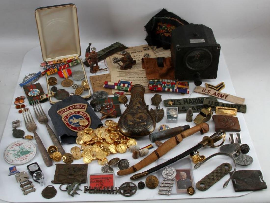 US NAVY BARBER SUPPLY BOX FULL GENERAL MILITARIA - 2
