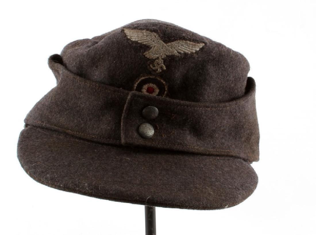 WWII THIRD REICH LUFTWAFFE M43 CAP W/ CLOTH EAGLE
