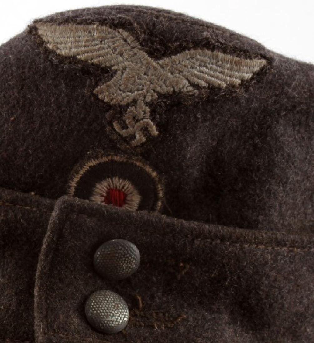 WWII THIRD REICH LUFTWAFFE M43 CAP W/ CLOTH EAGLE - 2