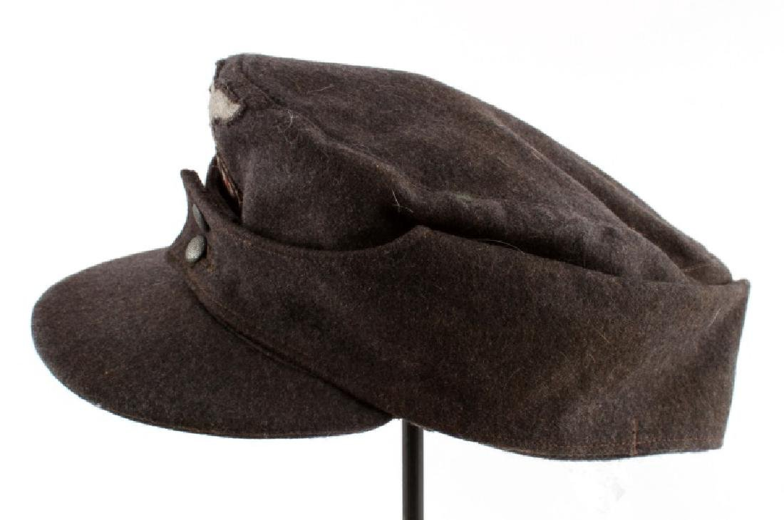 WWII THIRD REICH LUFTWAFFE M43 CAP W/ CLOTH EAGLE - 3