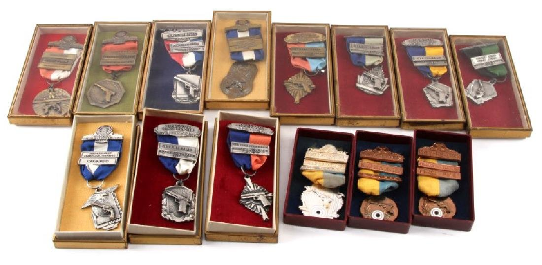 MILITARY AND MRRA MID 1950S MARKSMAN MEDALS
