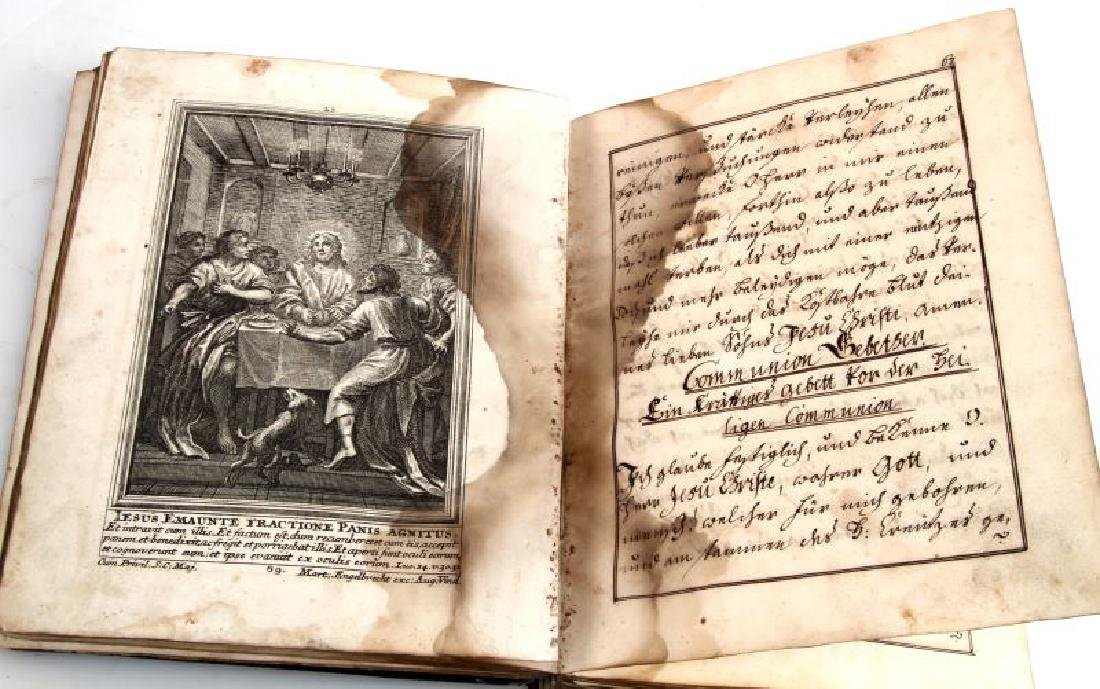 18TH CENT. HANDWRITTEN ILLUSTRATED RELIGIOUS TEXT - 4