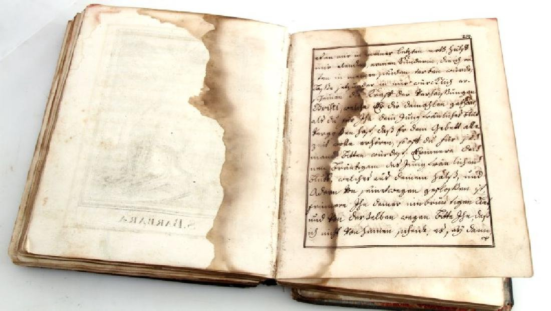 18TH CENT. HANDWRITTEN ILLUSTRATED RELIGIOUS TEXT - 5