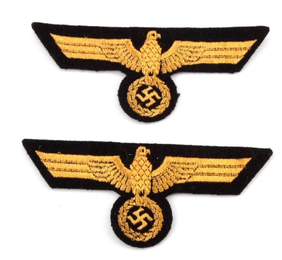 WWII GERMAN KRIEGSMARINE CLOTH PATCH LOT OF 2