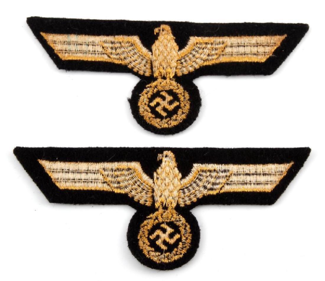 WWII GERMAN KRIEGSMARINE CLOTH PATCH LOT OF 2 - 3