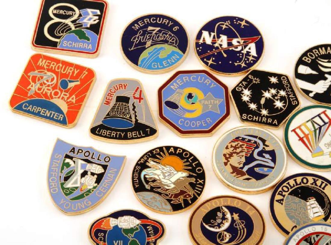 NASA FLIGHT CHALLENGE COINS MERCURY GEMINI APOLLO - 2