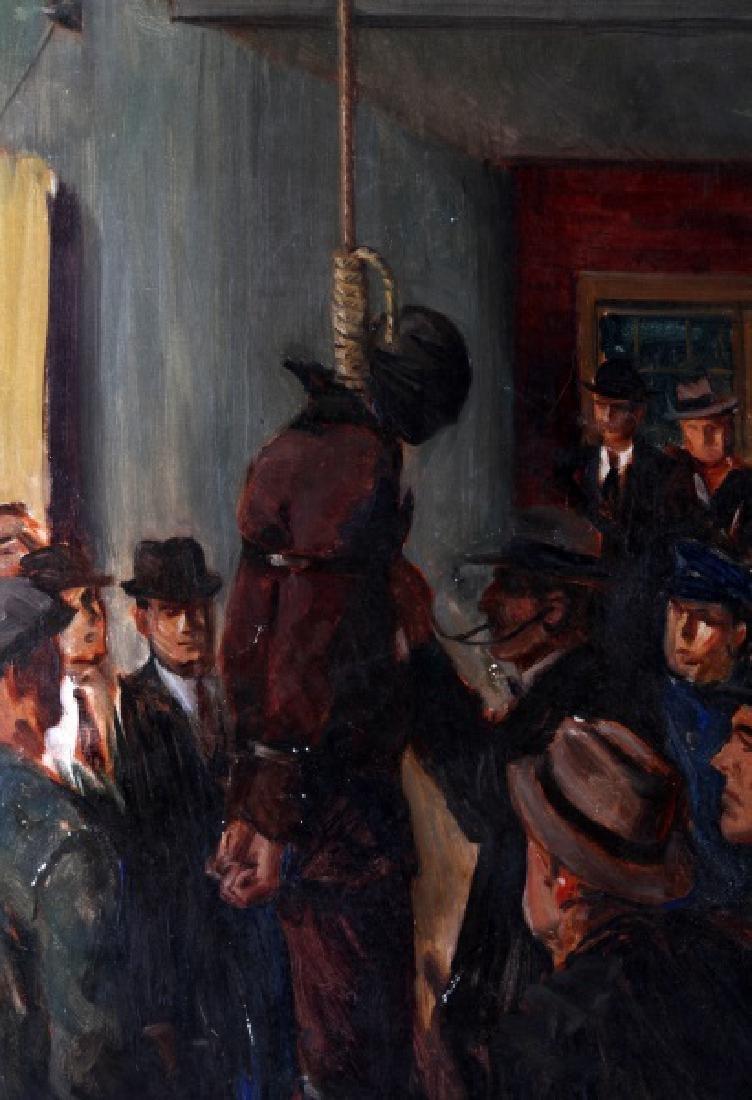 OIL ON CANVAS PUBLIC HANGING JACKSON MO. 1933 - 2