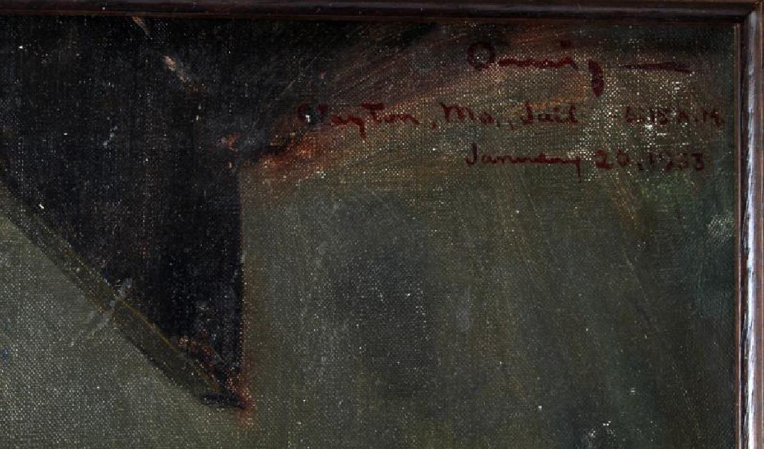 OIL ON CANVAS PUBLIC HANGING JACKSON MO. 1933 - 5