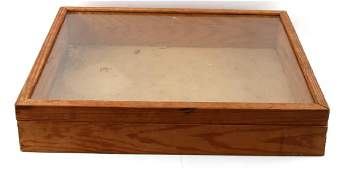 VINTAGE WOODEN AND GLASS LARGE DISPLAY CASE