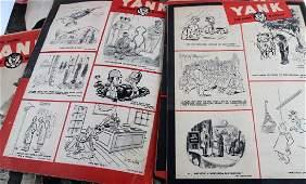 WWII US YANK ARMY WEEKLY MAGAZINE 1944 & 1945
