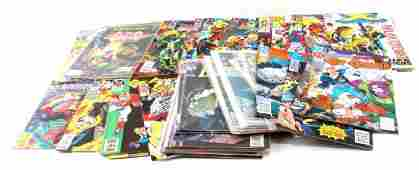 GROUP OF 40 BRONZE AGE  NEWER DC  MARVEL COMICS