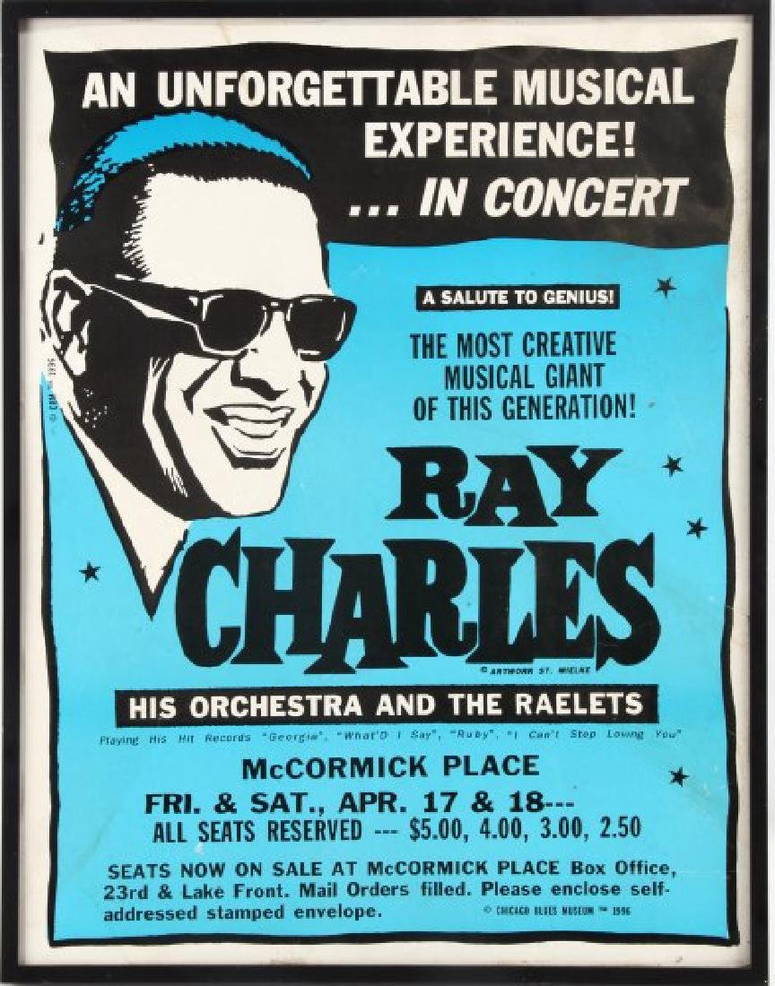 RAY CHARLES 1996 MCCORMICK PLACE CONCERT POSTER