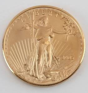 2005 GOLD AMERICAN EAGLE $50 1 OZT COIN