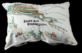 GERMAN PILLOW BERGHOF WITH EDELWEISS FLOWERS