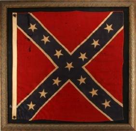 13 STAR ANTIQUE REBEL CONFEDERATE REUNION FLAG