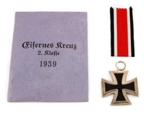 GERMAN WWII UNISSUED 2ND CLASS 1939 IRON CROSS