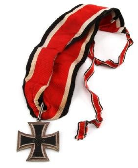WWII GERMAN NSDAP KNIGHTS CROSS 1939 + FULL RIBBON