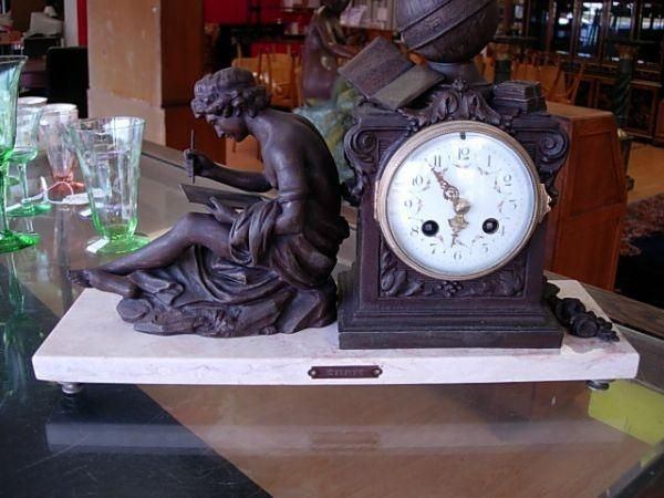 90083: FRENCH FIGURAL CLOCK AFTER F. MOREAU