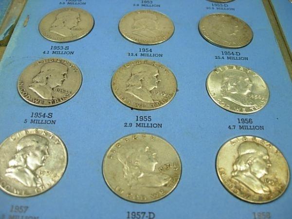 90278: US COIN WHITMAN BOOK SET OF FRANKLIN HALF DOLLAR
