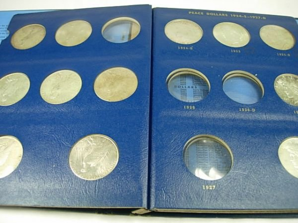 90280: PEACE SILVER DOLLAR WHITMAN LOT OF 15 COINS