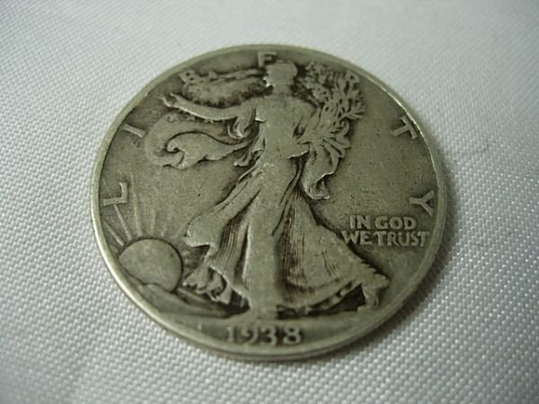 90281: 1938D WALKING LIBERTY HALF DOLLAR KEY DATE COIN