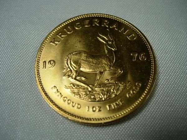 90282: 1976 GOLD SOUTH AFRICA KRUGGERAND 1OZ BULLION CO