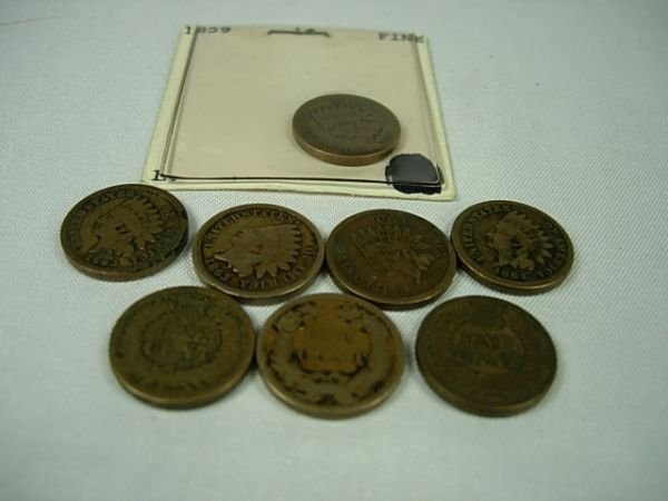 90283: INDIAN FLYING EAGLE CENT LOT ALL PRE 1865