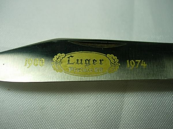 270: 3 RUSSELL LUGER PISTOL STAG PUMA POCKET KNIFE LOT - 3