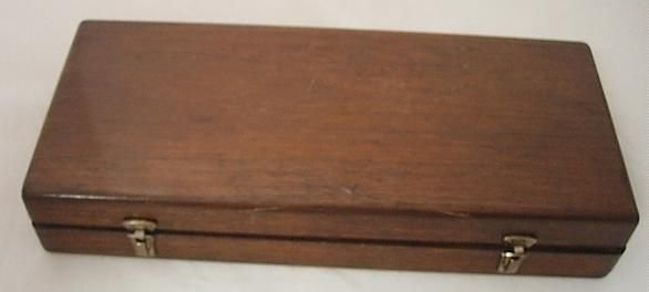 ANTIQUE MEDICAL BROWN BUERGER CYSTOSCOPE W/ WALNUT CASE - 6