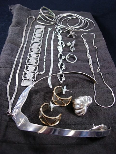 90261: HUGE LOT STERLING SILVER JEWELRY ABALONE
