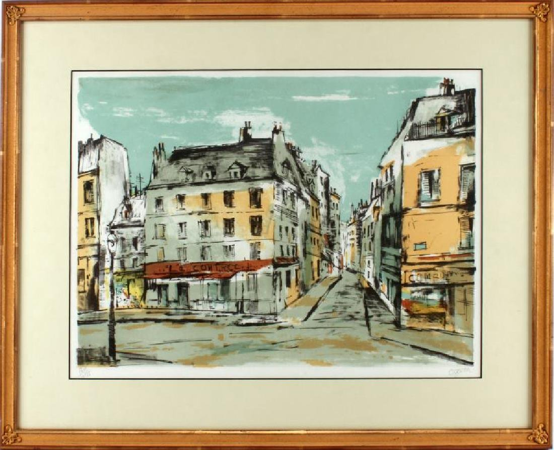 RARE LIMITED OGATA  LITHOGRAPH FRENCH STREET SCENE