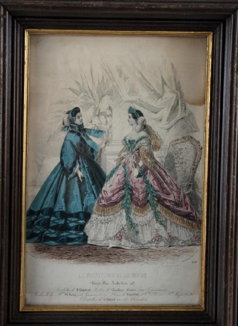 19TH C LE MONITEUR DE LA MODE LITHO COLOR PRINTS - 2