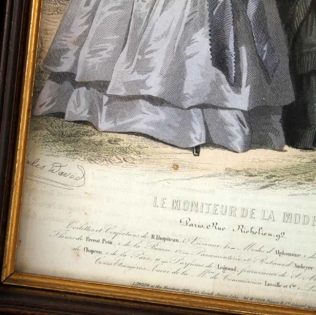 19TH C LE MONITEUR DE LA MODE LITHO COLOR PRINTS - 4