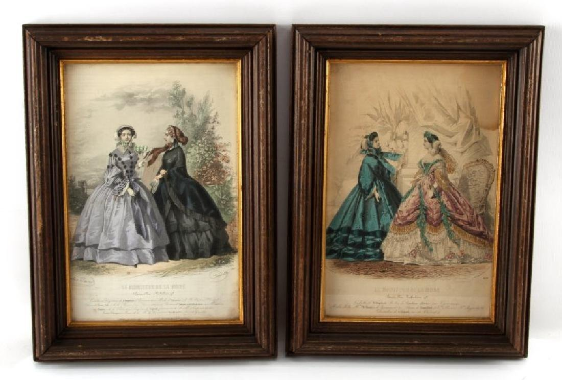 19TH C LE MONITEUR DE LA MODE LITHO COLOR PRINTS - 6
