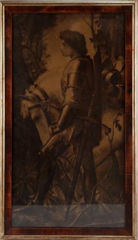 ANTIQUE FRAMED JOAN OF ARC PRINT CAMPBELL ART CO.