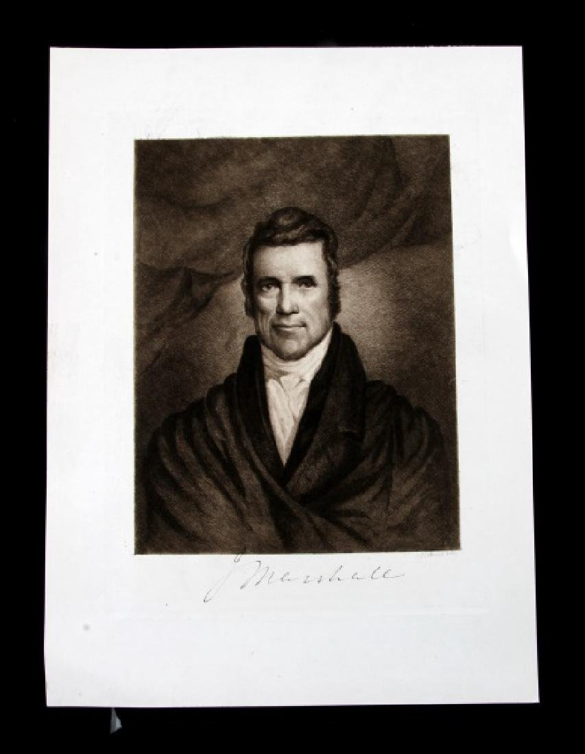 ALBERT ROSENTHAL ETCHING SCJ JOHN MARSHALL
