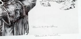THE LONG HUNTER DAVID R MERRILL WESTERN PRINT