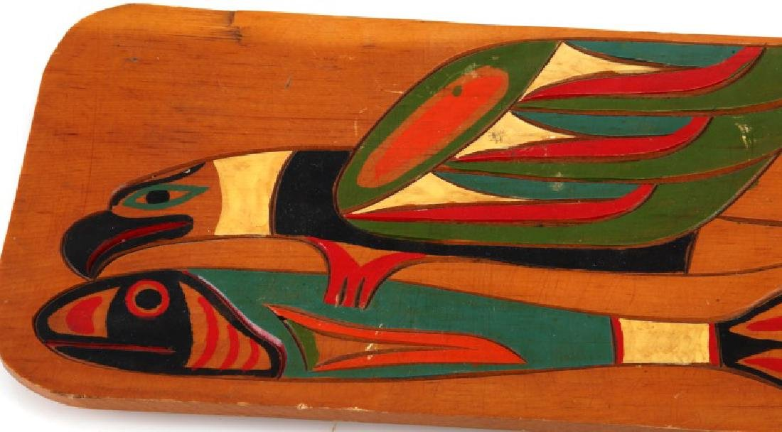 ANTIQUE PACIFIC NORTHWEST INADIAN HAND CRAVED TRAY - 2