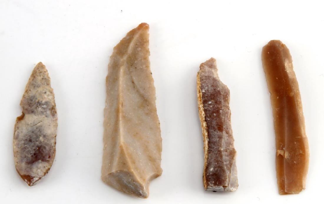 ANCIENT EGYPTIAN PRE DYNASTIC FLINT PIECES - 3