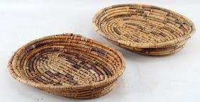 2 NATIVE AMERICAN HANDWOVEN PIMA STYLE BASKETS