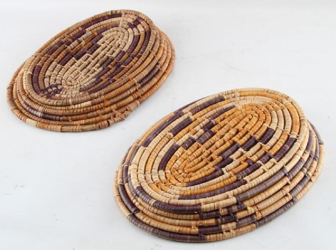 2 NATIVE AMERICAN HANDWOVEN PIMA STYLE BASKETS - 3