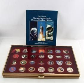 NASA CLOISONNE MEDALLION COLLECTION COMPLETE GOLD