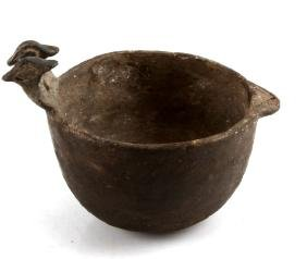 MISSISSIPPIAN CULTURE ZOOMORPHIC POTTERY VESSEL