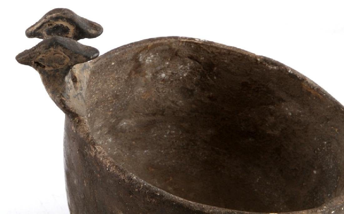 MISSISSIPPIAN CULTURE ZOOMORPHIC POTTERY VESSEL - 2