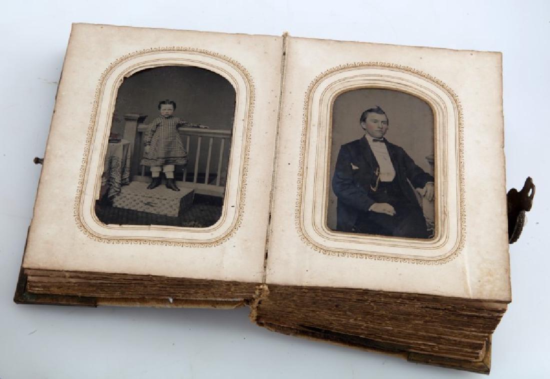 LOT ANTIQUE MINI BOOKS PHOTO ALBUM GETTYSBURG - 7