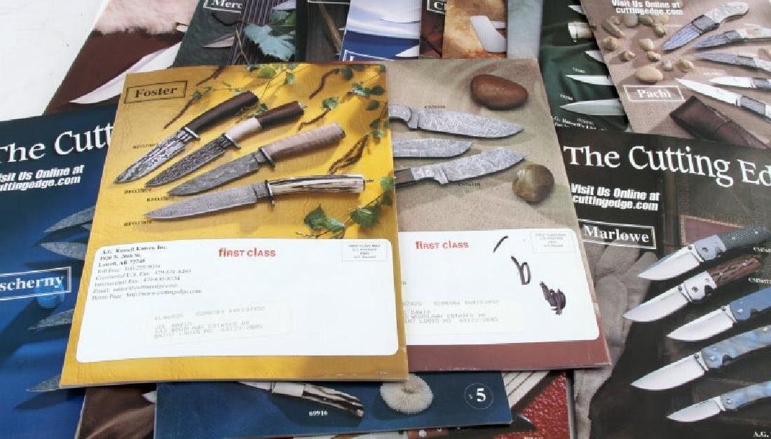 LOT OF 20 THE CUTTING EDGE KNIFE COLLECTOR CATALOG - 3