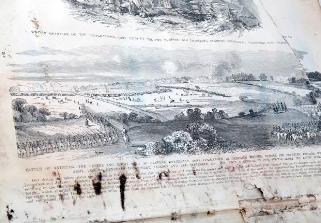 LOT ANTIQUE FRANK LESLIE HISTORY OF THE CIVIL WAR - 4